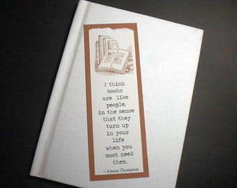 BOOK PASSION - Bookmark with quote by Emma Thompson