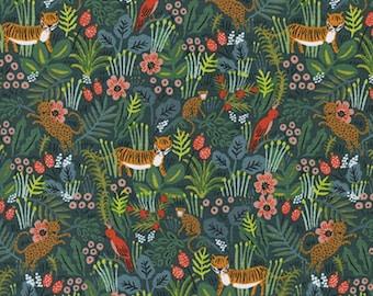 Cotton + Steel - Rifle Paper Co. - Menagerie - Jungle in Hunter
