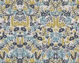 Cotton + Steel - Rifle Paper Co. - Menagerie - Tapestry in Natural Metallic
