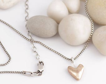 Will You Be My Valentine Bronze and Silver Necklace