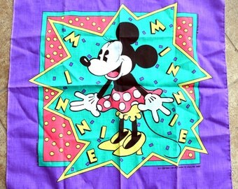 Vintage 80s 90s Minnie Mouse Bandana