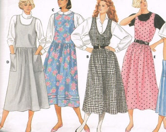 80s Womens Jumper Pattern Butterick 3961 Bust 30 to 32 Fast and Easy Loose Fitting Jumper Modest Dress Vintage Uncut  1986 Sewing Pattern