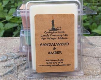 Sandalwood and Amber Pure Soy Breakaway Melt