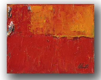 """Abstract Painting. """"Red Orange Grey"""""""