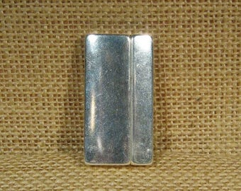40mm Smooth Clasps for 40mm Flat Leather - Antique Silver