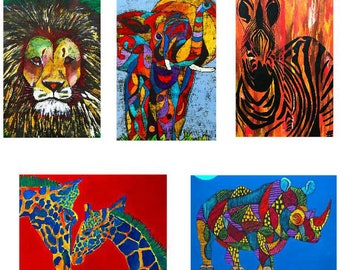 Greeting cards - set G - beautiful high quality fine art cards - all from original art