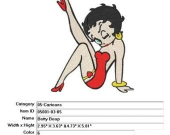 Embroidery Machine File  05001-03-05 Betty Boop