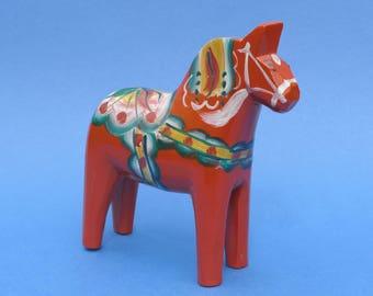 DALA Horse - NILS OLSSON des - Hand Painted Treen Folk Art