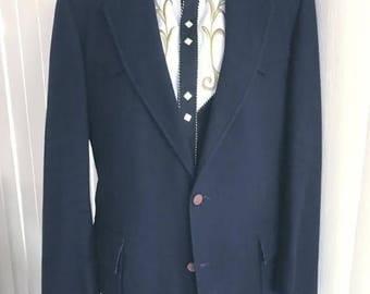 40% OFF Christmas in July Vintage Men's Cashmere Western Jacket Blazer by Cutter Bill's -- Size 44
