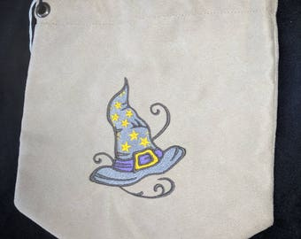 Witch hat embroidered pouch
