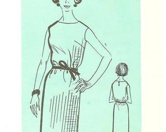 1960s Shift Dress Pattern Meyer 6823 B33 Easy to make