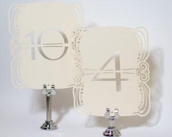 Art Nouveau Table Numbers