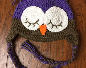 Owel hat 3-6months ready to ship