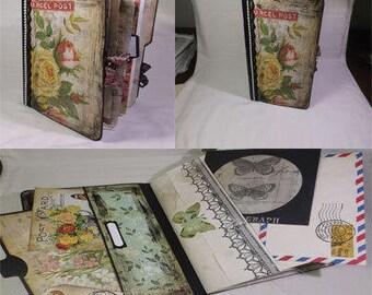 Travel Journal, Junk Journal, Travel Scrapbook Diary, Chunky Journal, Vintage Inspired Journal