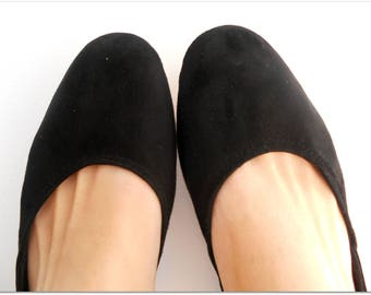 MAYA - Ballet Flats -38- Black Suede-  Available in different colours & sizes