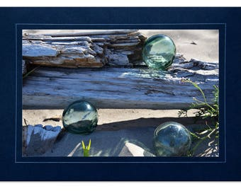 Beach Cards - Japanese Fishing Float Cards - Fishing Floats and Driftwood - Sea Glass Floats Cards - Beach Cards Glass Floats