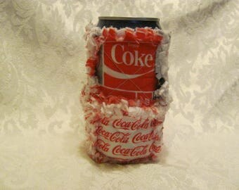 Coca Cola Coke Inspired 12oz Beer/Pop Can Cover/ Cozy / Cozie/ Can Holder/ Rag Quilted