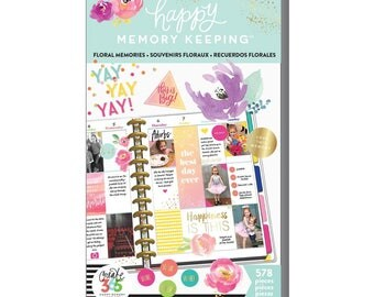 Floral Memories Big Happy Memory Keeping Sticker Value Packs (578/Pkg) Me and My Big Ideas (PPSV-28-3048)