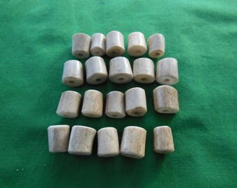 20 Antler Beads Mixed Lot 57