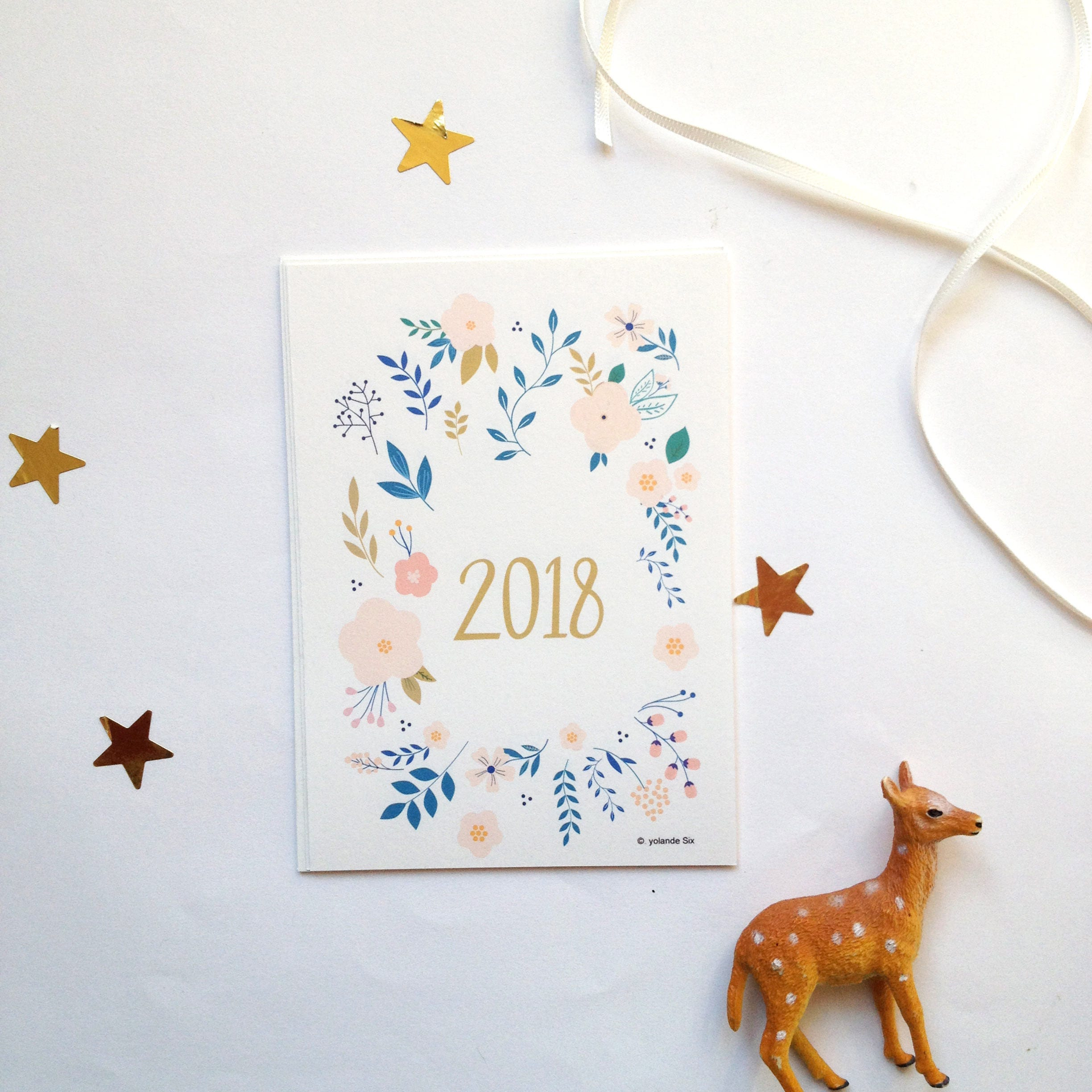2018 New Years Cards 2018 New Year's Holiday Cards