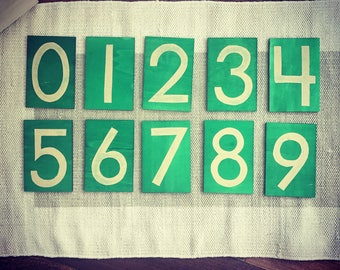 Modern Montessori Sandpaper Numbers