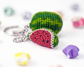 Watermelon Keychain Amigurumi