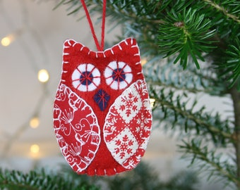 Felt owl ornaments Felt Christmas Ornaments Owl Christmas