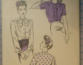 Advance 3654 - Sewing Pattern - 1930s Ladies Blouses