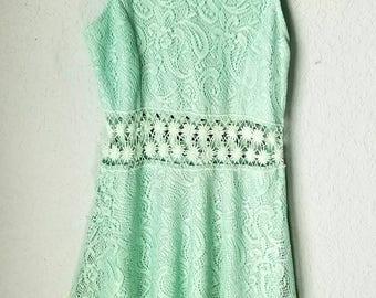 Bailey Blue Crochet Dress