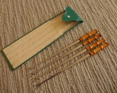 Set of Felix Bamboo Handle Fondue Forks in Pouch