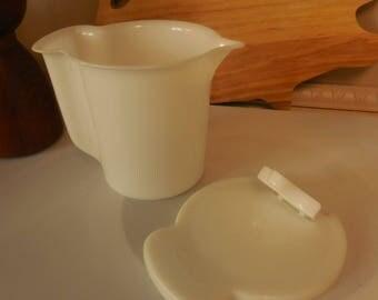 White Tupperware Creamer