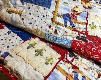 Baby Quilt, Boy, Crib, Handmade