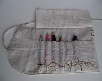 Penroll, pencilroll, pen pouch, makeup bag,