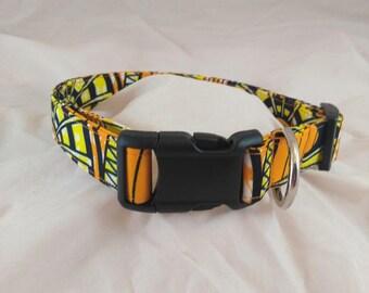 African Print collar, Pet Collar, Cat Collar, Dog Collar , Collier de chien, collar de perro,