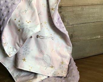 Pink Merladies Minky Blanket