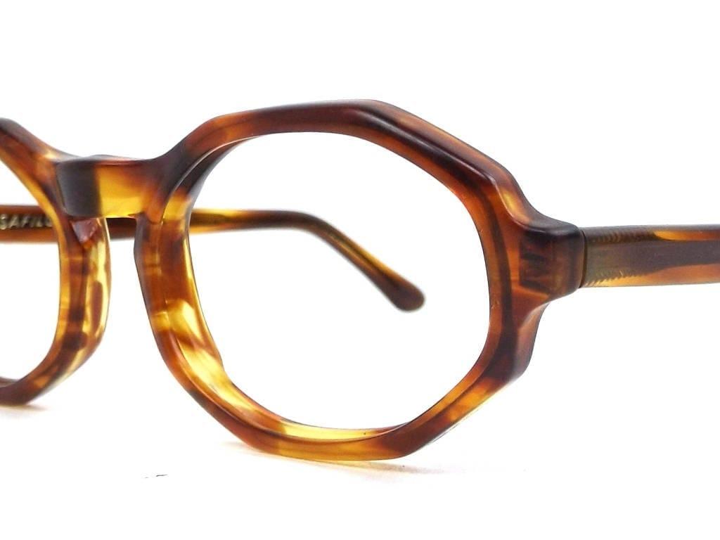vintage 50s 60s deadstock octagon eyeglasses tortoise shell frames ...