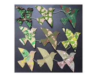 Paper Bird Garland - GREENS - Wedding Garland - Party Garland - Bird Garland - Wedding Decor - Home Decor - Party Decor - Nursery Decor