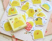Yellow Pudding Candy Poetry cartoon shapes stickers