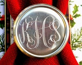Personalized Engraved Monogram Pewter Napkin Ring