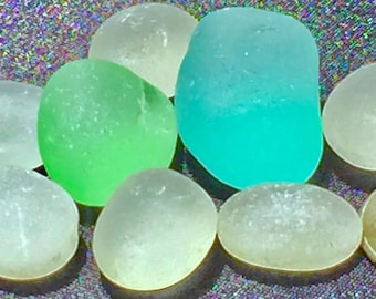 A-Sea Glass of Hawaii! Big! OCEAN BLUE! SEAFOAM! Bulk Sea Glass! Seaglass!  Bulk Sea Glass! Sea Glass Bulk! Genuine Sea Glass! Glass Jewelry