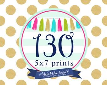 130 Professionally Printed Invites with white envelopes, Printed Invites, Printed Invitations- Dreamlike Magic Designs