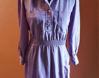 Pretty Vintage Mauve Short Dress by Irene Kasmer