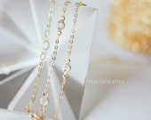 Gold plated Brass Crystal Beaded Chains, 1.7mm Chains with Glass Coin Beads, Lead Nickel Free (#LK-147)/ 1 Meter=3.3 ft
