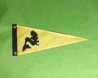 Nautical Flags Boat Gifts Light Yellow Mermaid Custom Flag Boating Gift for Her theflagchick