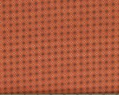 Green and Tan Oval Shirting Print on Brown Background 100% Cotton Quilt Fabric for Sale, Kim Diehl's Katie's Cupboard Collection, HEG6673-30