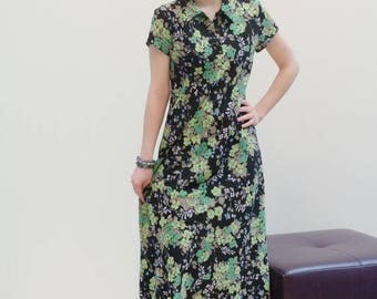 Long Spring Dress -  Maxi Spring Dress - Long Dress Sleeves -  Maxi Dress Sleeves -  Long Printed Dress -  Spring Print Dress