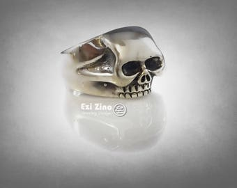skull ring  solid sterling silver 925 By ezi zino
