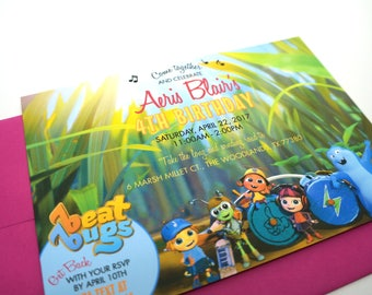 Beat Bugs Birthday Invitation DIGITAL DESIGN