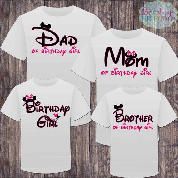 Matching Disney Family Birthday Girl Tshirts Mickey Minnie