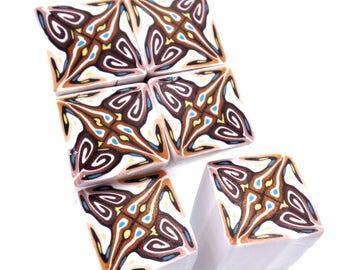 One Polymer Clay Cane, Kaleidoscope Cane, uncured, raw Polymer Clay Cane